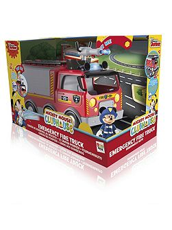 Emergency Fire Truck Vehicle with Mickey