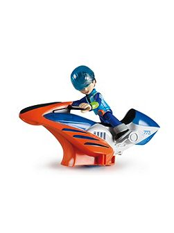 Hoverbike Vehicle and Miles Figure