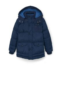 Mango Boys Detachable hood quilted coat