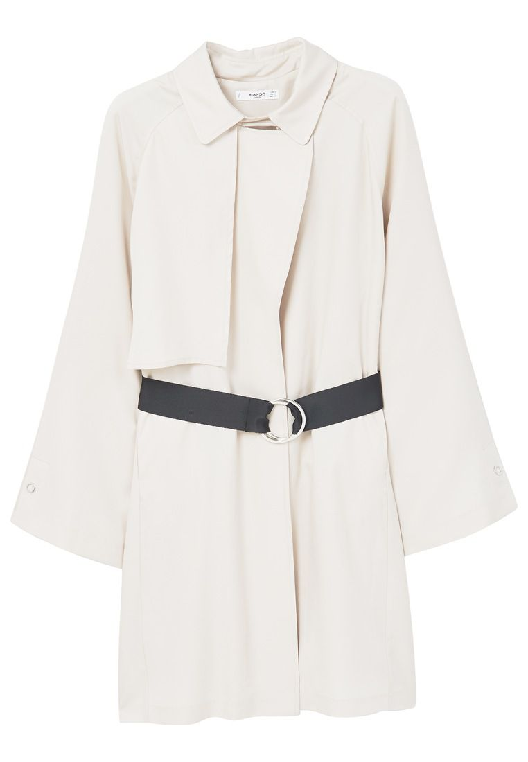 Mango Belt flowy trench, Cream