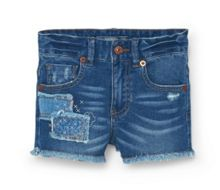 Girls Ikat denim shorts