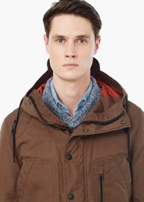 Cotton-blend hooded jacket