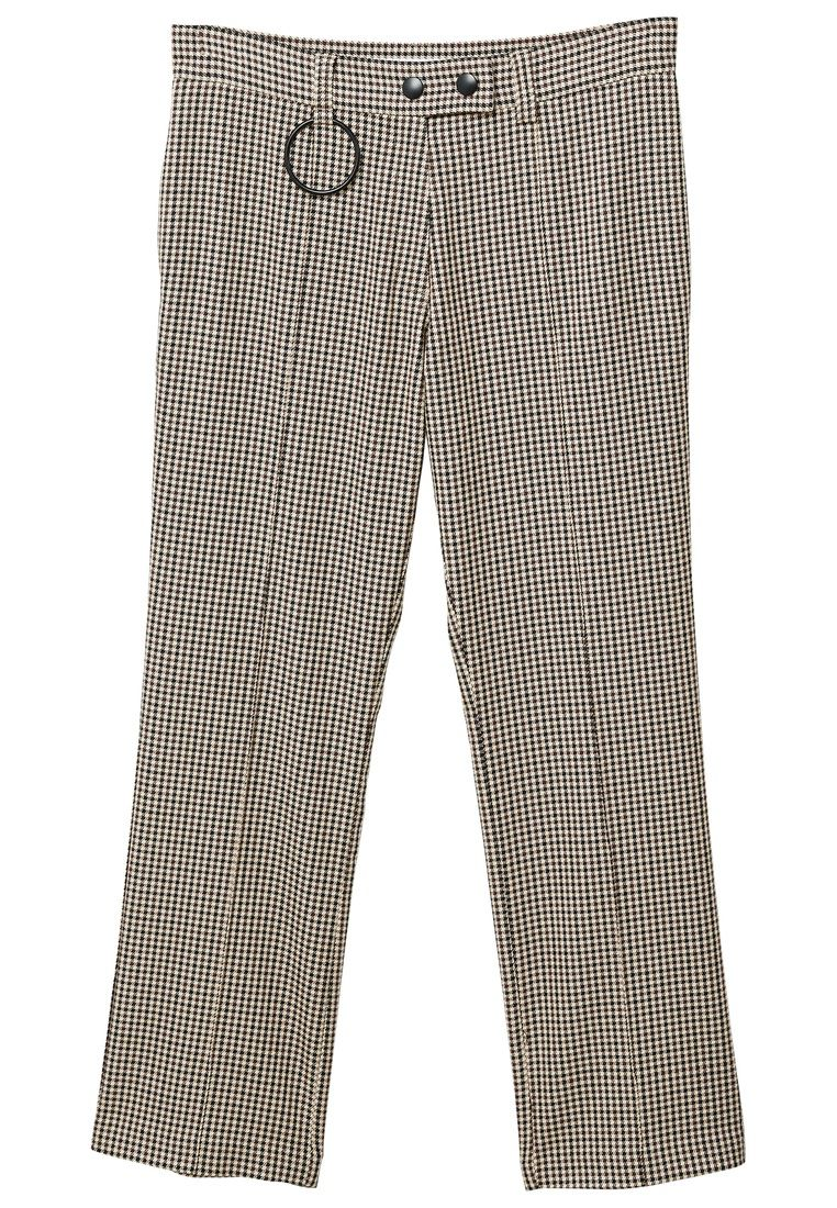 Mango Houndstooth trousers, Brown