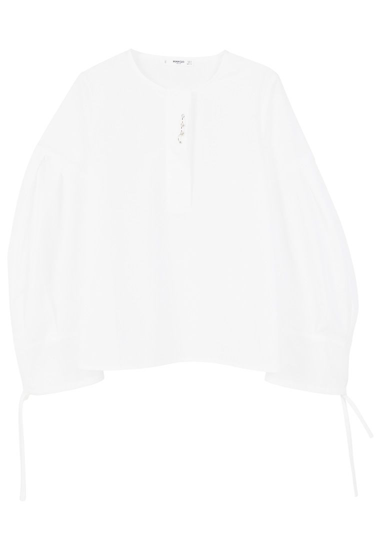 Mango Puffed Sleeves Blouse, White