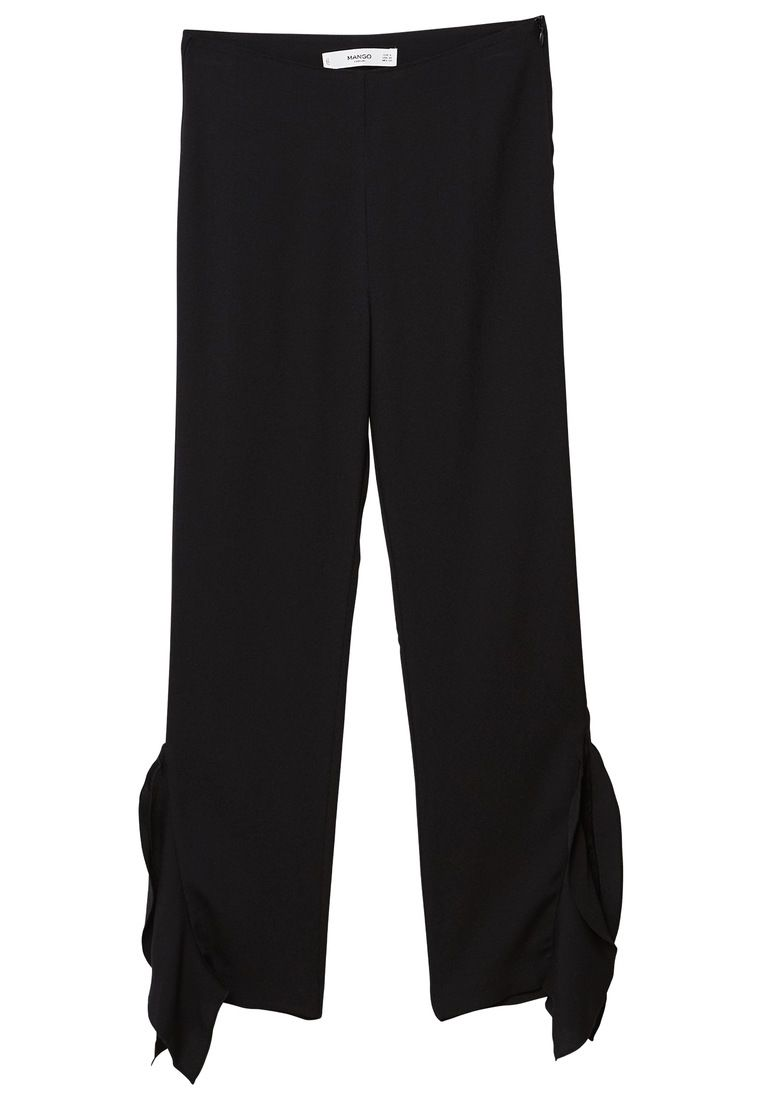 Mango Lace flare trousers, Black