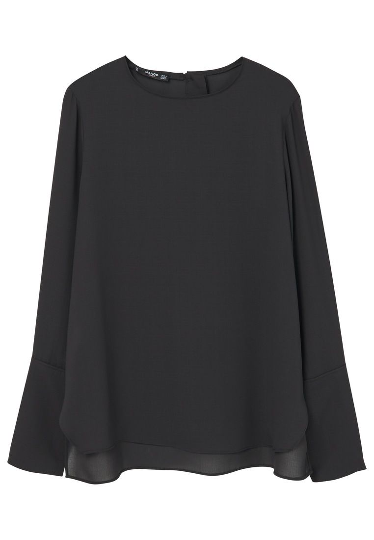 Mango Flowy blouse, Black