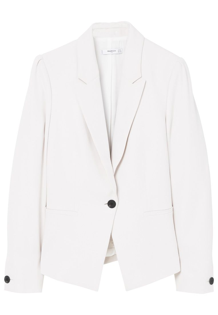 Mango Essential structured blazer, White