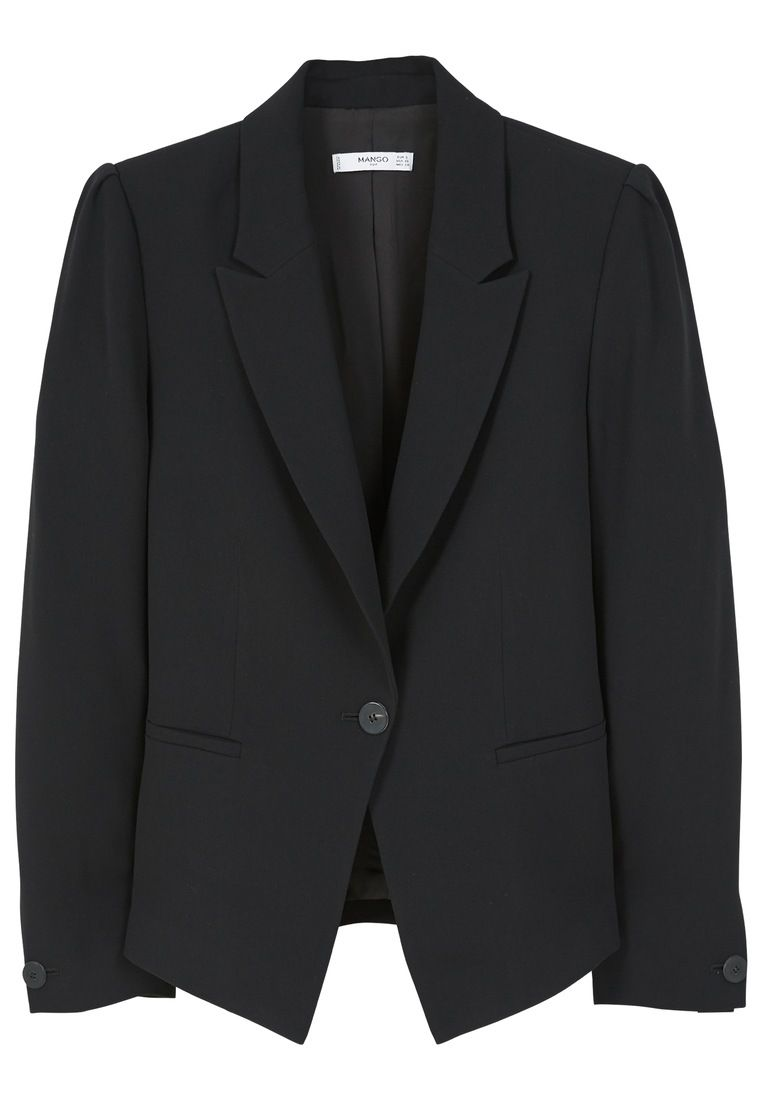 Mango Essential structured blazer, Black