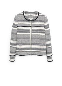 Mango Textured cotton-blend jacket