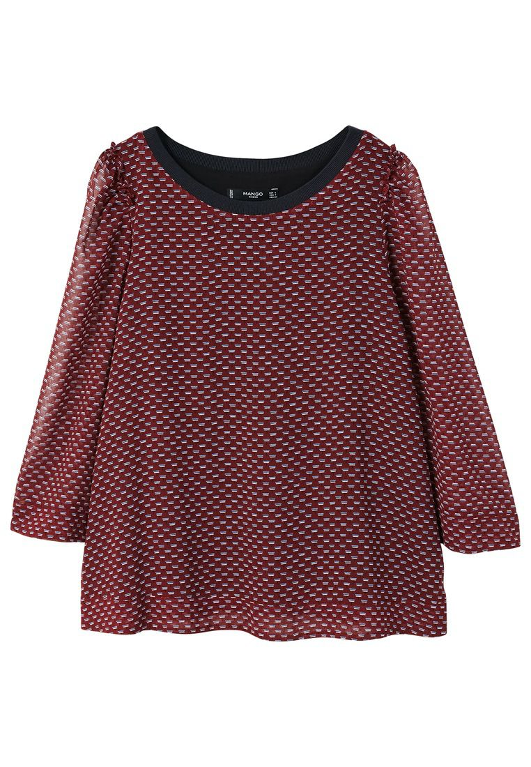 Mango Double Blouse, Red