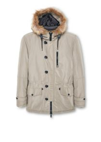 Faux fur quilted parka