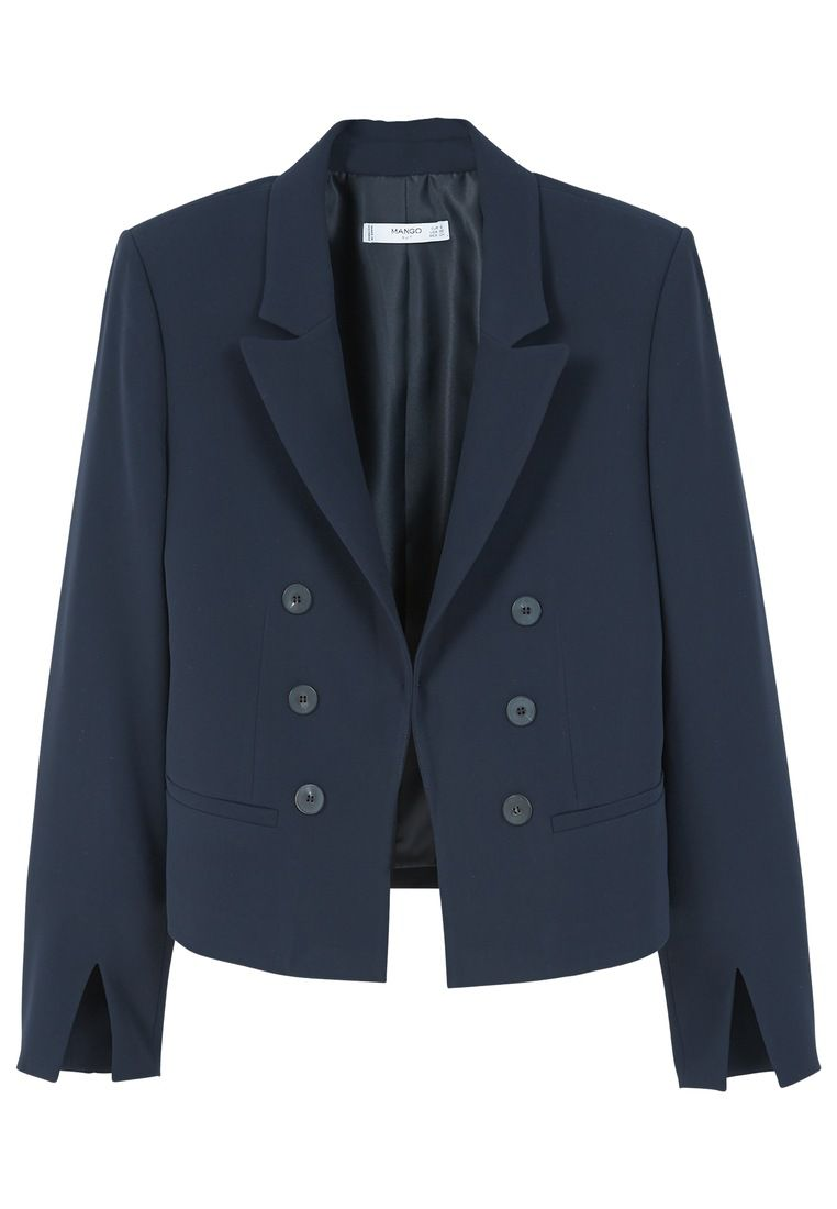 Mango Double-breasted blazer, Purple
