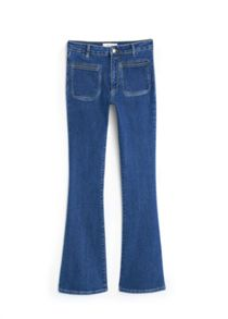 Mango Flared denim trousers