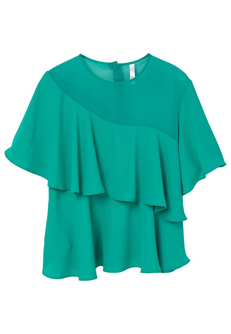 Mango Double-layer blouse, Green
