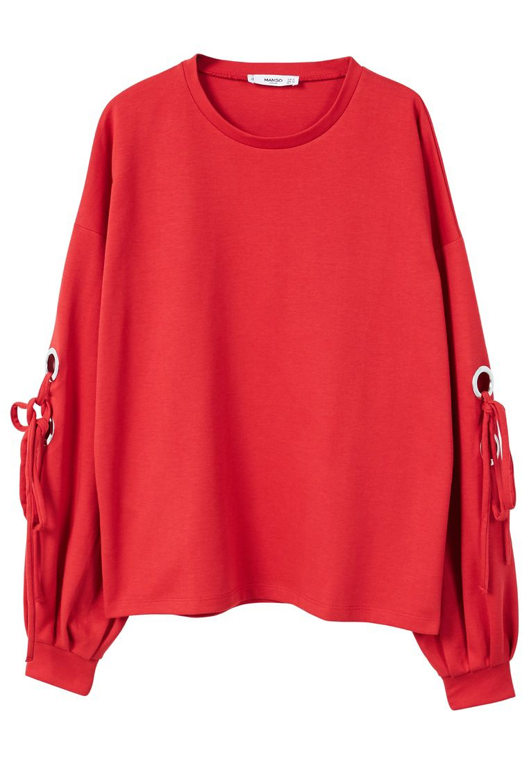 Mango Eyelets sweatshirt, Red