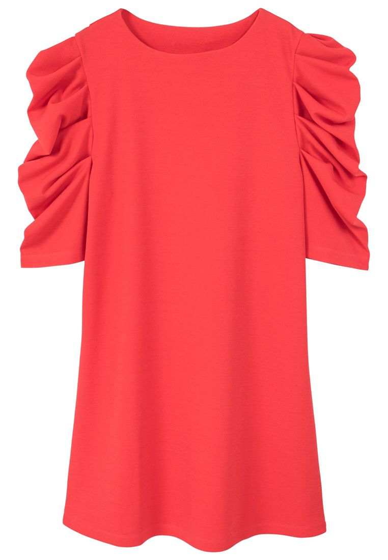 Mango Puffed sleeves dress, Red