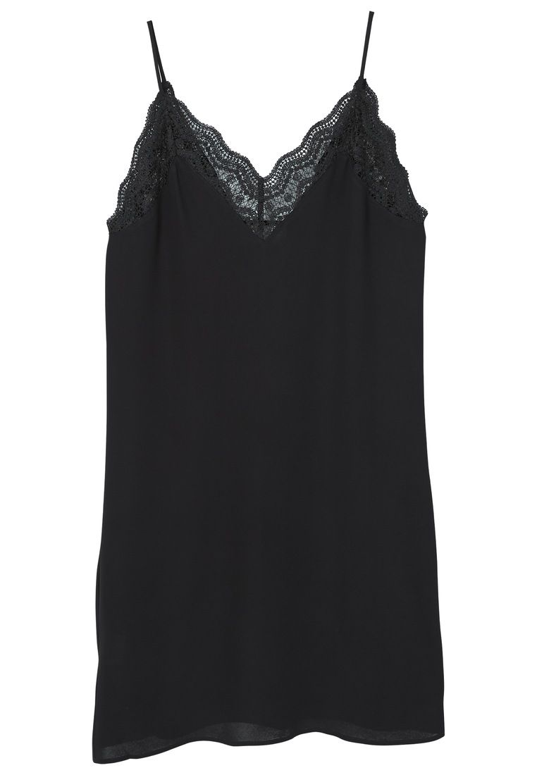 Mango Blonda detail dress, Black
