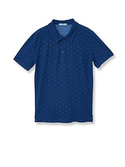 Top polka-dot cotton polo shirt