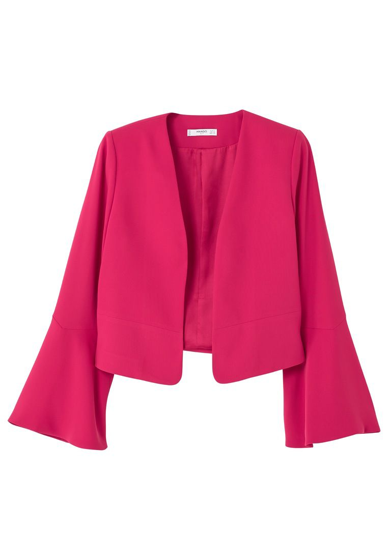 Mango Flared Sleeve Blazer, Red