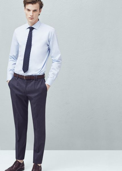 Mango Slim-fit Cotton Suit Trousers