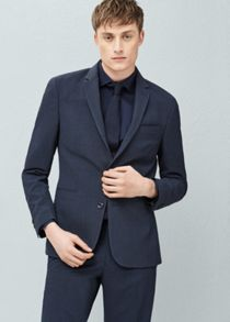 Mango Modern Slim-Fit Suit Blazer