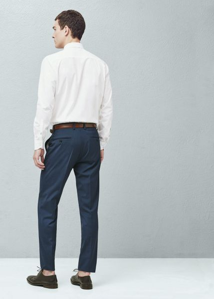 Mango Slim-fit houndstooth suit trousers