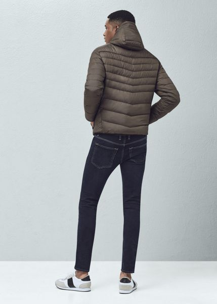 Mango Quilted hooded coat