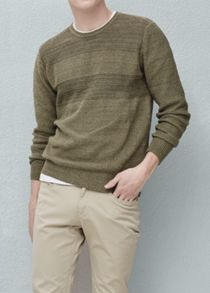 Mango Mixed knit sweater