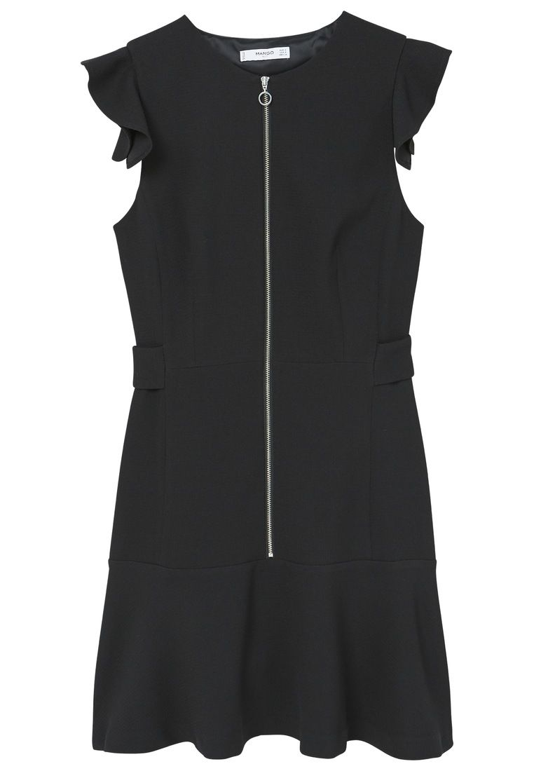 Mango Zipped dress, Black
