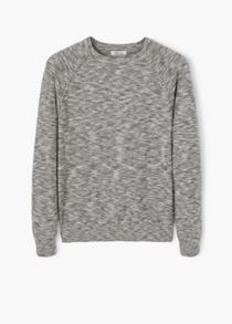 Mango Flecked cotton-blend sweater