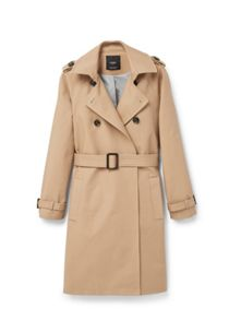 Mango Double breasted cotton trench