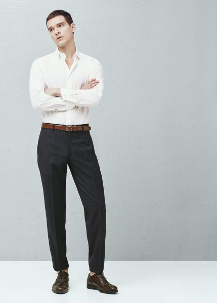 Mango Slim-fit Tailored Cotton Shirt