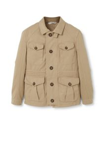 Mango Cotton canvas field jacket