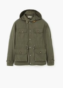 Detachable hood parka