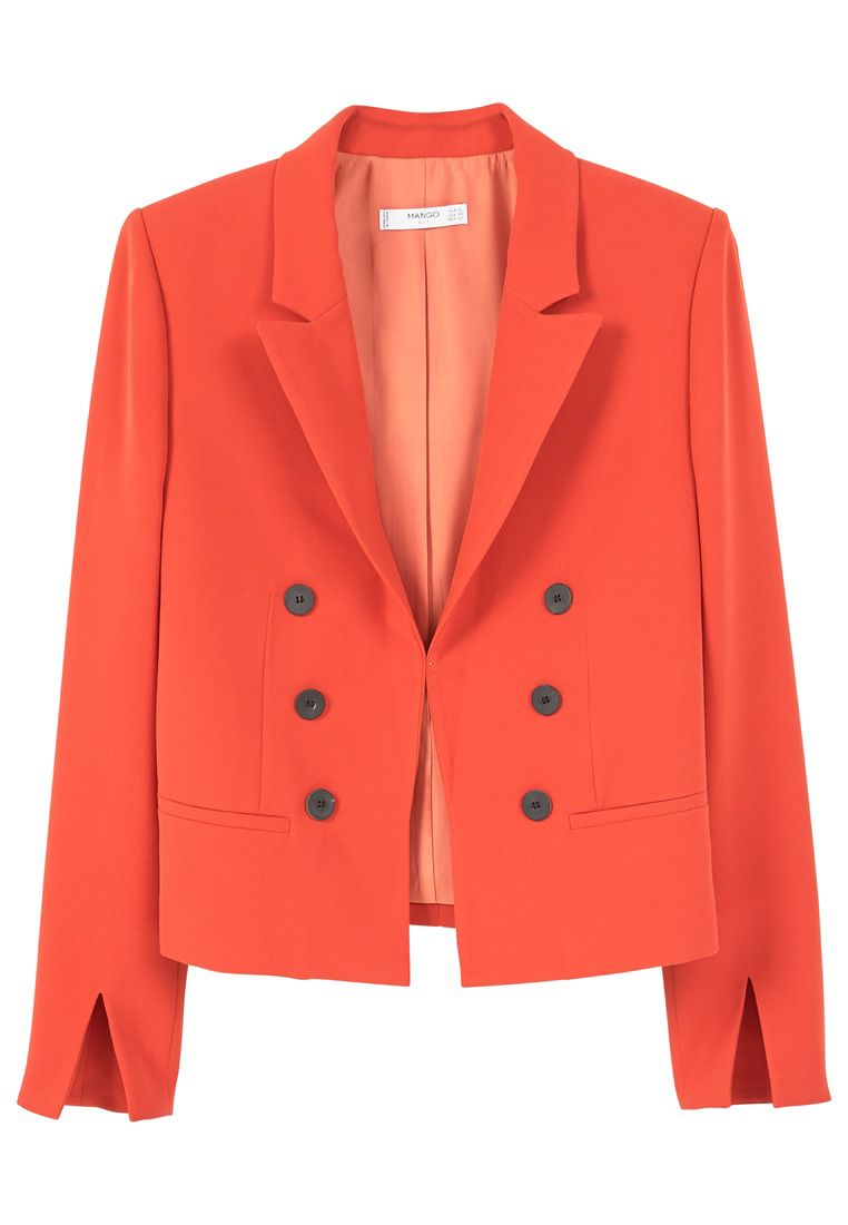 Mango Double-breasted blazer, Orange