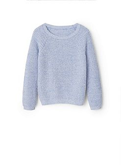 Girls Ribbed cotton-blend sweater