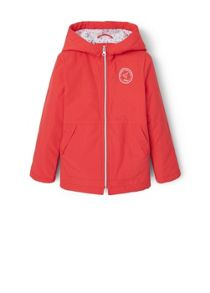 Girls Water-repellent hooded jacket
