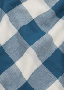 Mango Check cotton scarf