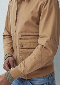 Mango Canvas cotton jacket