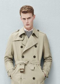Mango Cotton-blend trench coat