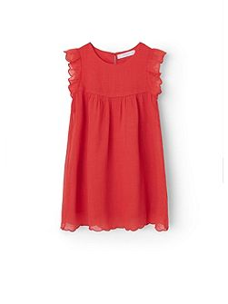 Girls Frill cotton dress
