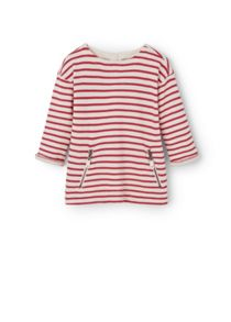 Mango Girls Striped cotton-blend sweatshirt