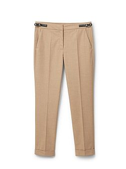 Tabbed suit trousers