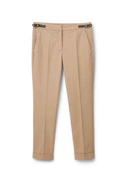 Mango Tabbed suit trousers