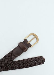 Mango Braided leather belt