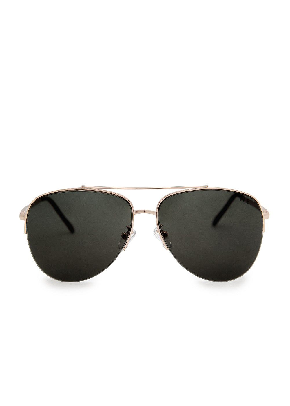 Metallic fram aviator sunglasses