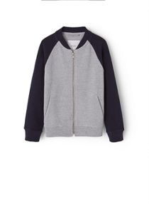 Boys Textured Cotton-blend sweatshirt