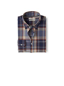 Slim-fit Madras Check Shirt
