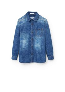 Mango Boys Floral denim shirt
