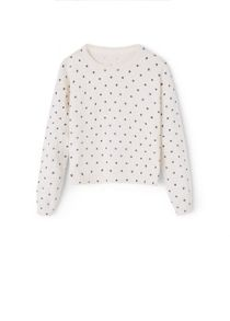 Girls Printed cotton sweater